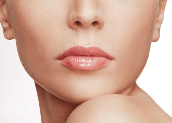 Золотое армирование в сочетании с пилингом губ и введением филлеров (гелей)